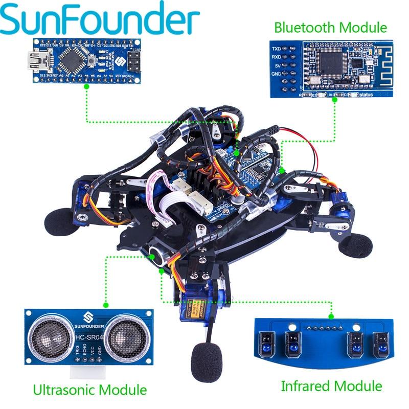 SunFounder رولفلاش بيونيك روبوت السلاحف مع مجموعة ألعاب التحكم التطبيق لتجنب عقبة Rbotics أطقم