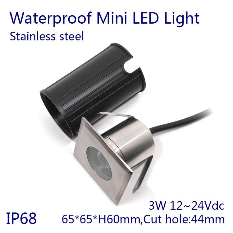 DC12V 24V 3W IP68 impermeable bajo el agua LED luz RGB Mini fuente estanque lámpara blanco cálido/Blanco/blanco frío 5 unids/lote