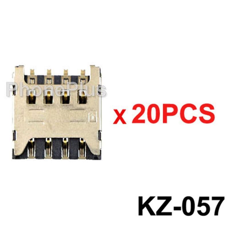 20/50/100 piezas para LG F120 F160 P870 escapar F5 P875 Optimus G Pro 2 F350 L9 reparación del lector del zócalo de la bandeja de la ranura de la tarjeta Sim P769