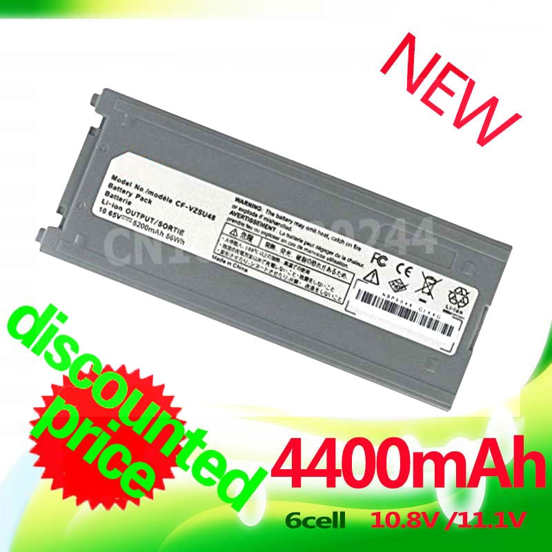 Gololoo 4400MaH batería del ordenador portátil CF-VZSU28 CF-VZSU48 CF-VZSU48U CF-VZSU50 CFVZSU48 CF-VZSU48 para Panasonic Toughbook CF-19 CF19