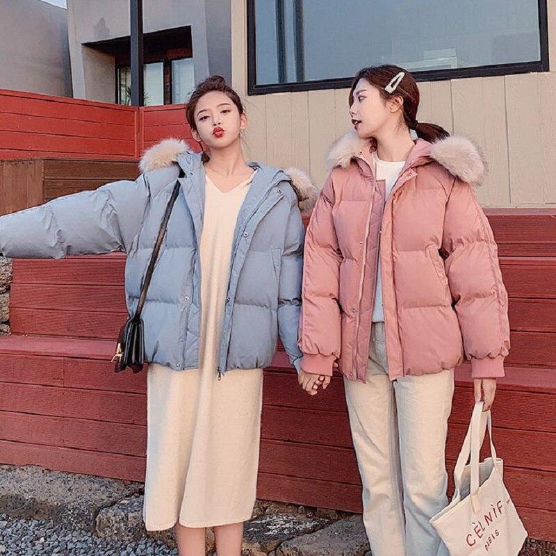 Chaqueta gruesa de Invierno para mujer, abrigo para mujer, chaqueta holgada de pan, chaqueta de invierno para estudiantes