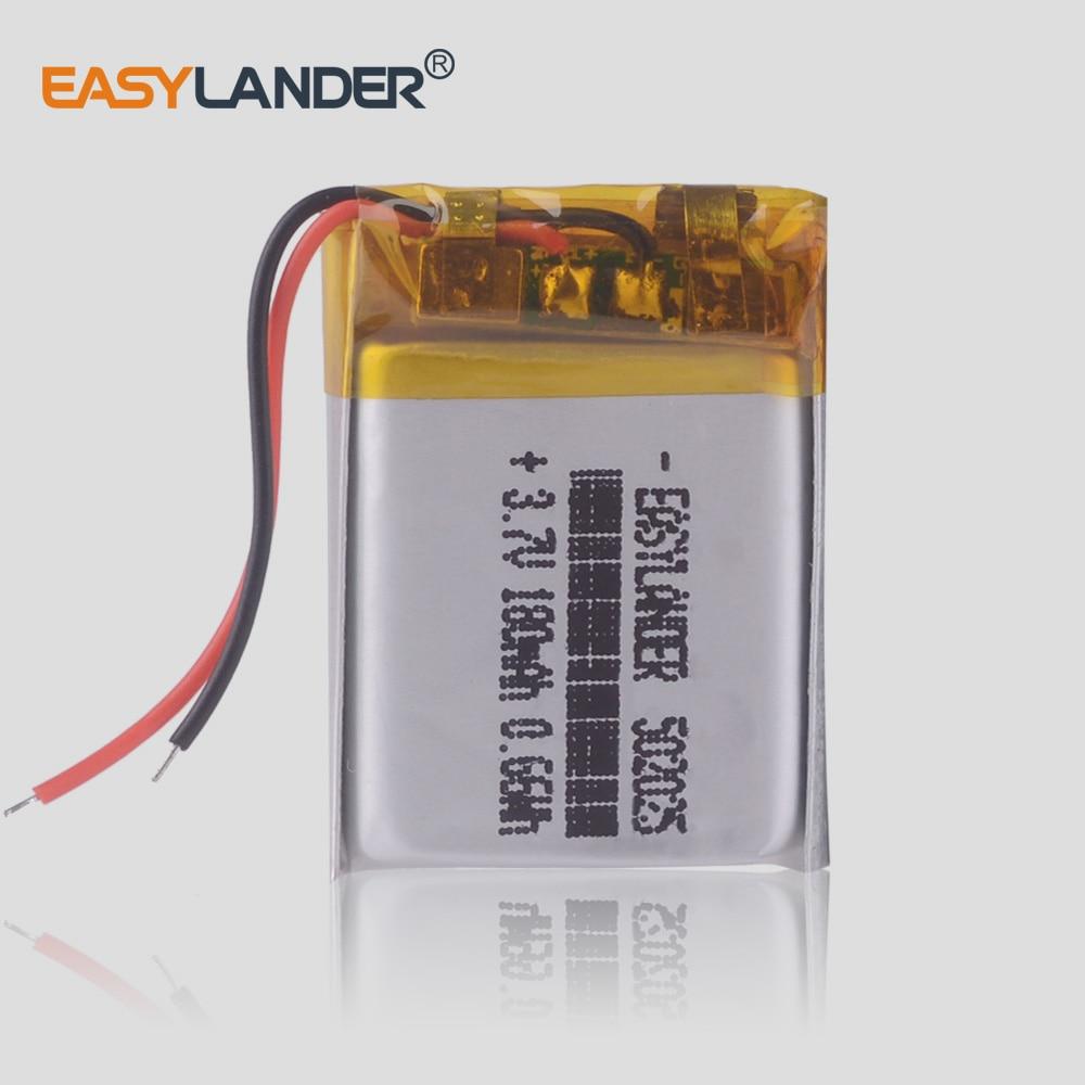 5pcs/Lot 3.7V lithium polymer battery 052025 502025 180mah MP3 MP4 MP5 video recorder Junsun 7810G pro dvr advocam recorder