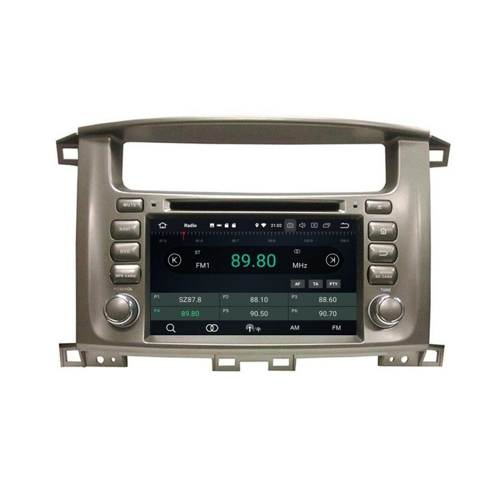 "2 din 7 ""Android 8,0 Car Radio DVD GPS Multimedia estéreo para Toyota Lander crucero 100 4GB de RAM Bluetooth WIFI USB DVR 32GB ROM"