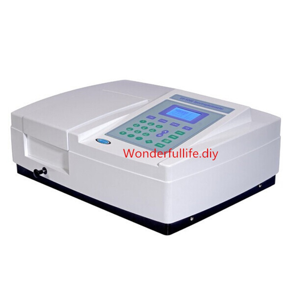 UV/VIS ultravioleta espectrofotómetro Visible w/PC Software de escaneo de 190-1100 nm