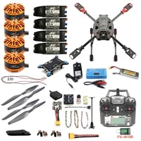 jmt full kit diy 2 4ghz 4 aixs multicopter rc 630mm frame kit radiolink mini pixgps fs i6x brushless motor esc altitude hold