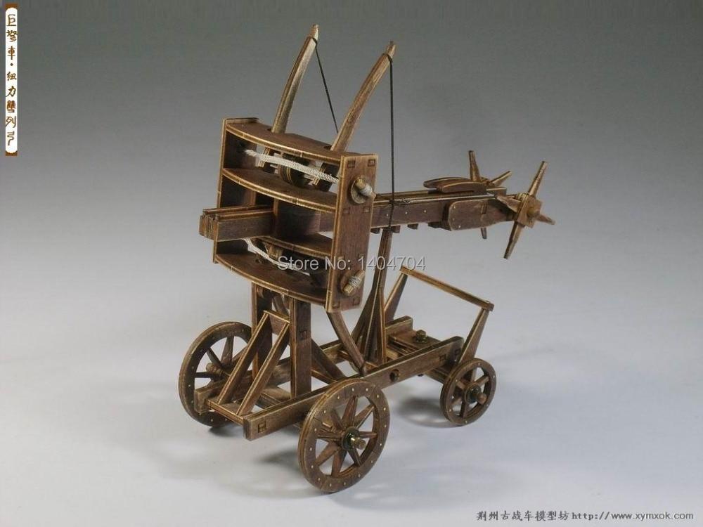 Modelos NIDALE, carros clásicos antiguos, juegos de rompecabezas Ballista de Roma, modelo de Ballesta de madera, instrucciones en inglés