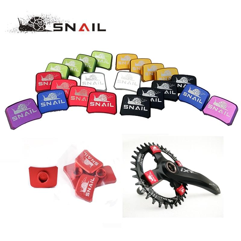 4pcs/set SNAIL 7075 Aluminum Bike Chain Wheel Nails Ultralight MTB Road Bicycle BMX Crank Plate Screws Crankset Nut