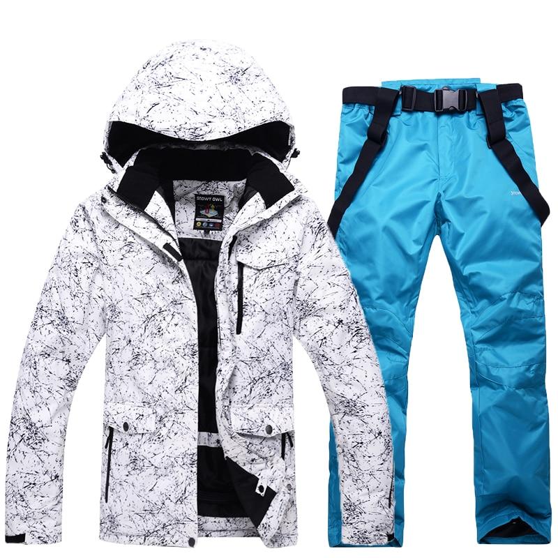 Men Snow Ski Sets Jacket Waterproof Windproof  Breathable Ski Jacket Climbing Mountain Outdoor Ski Suits Snowboarding Clothes