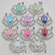 Mode Prinzessin Crown Kristall Strass AB farbe perle botones decorativos hochzeit Geburtstag party scrapbooking handwerk liefert
