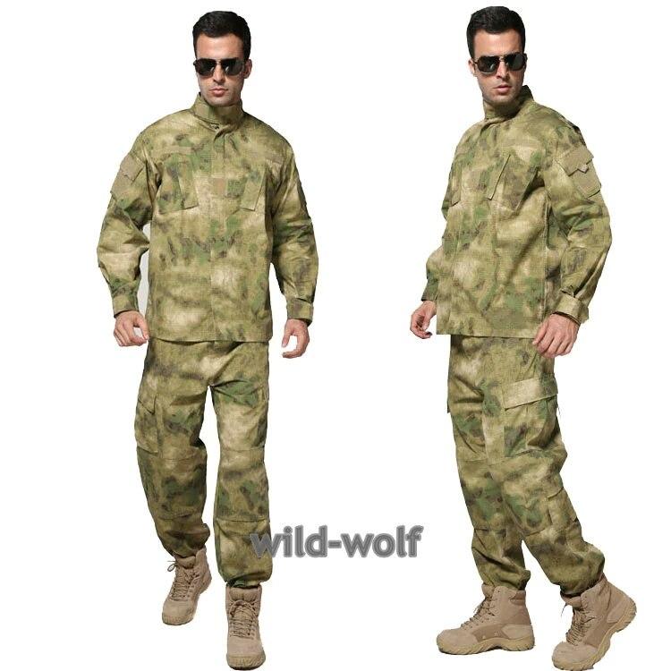 Army Military jacket military feld camouflage camo Kampf Airsoft Uniform Anzug Sets a-tacs FG
