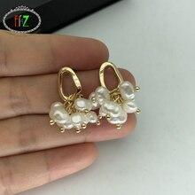 F. J4Z luxe simulé perle charmes boucles doreilles magnifiques femmes élégant soirée boucle doreille accessoires