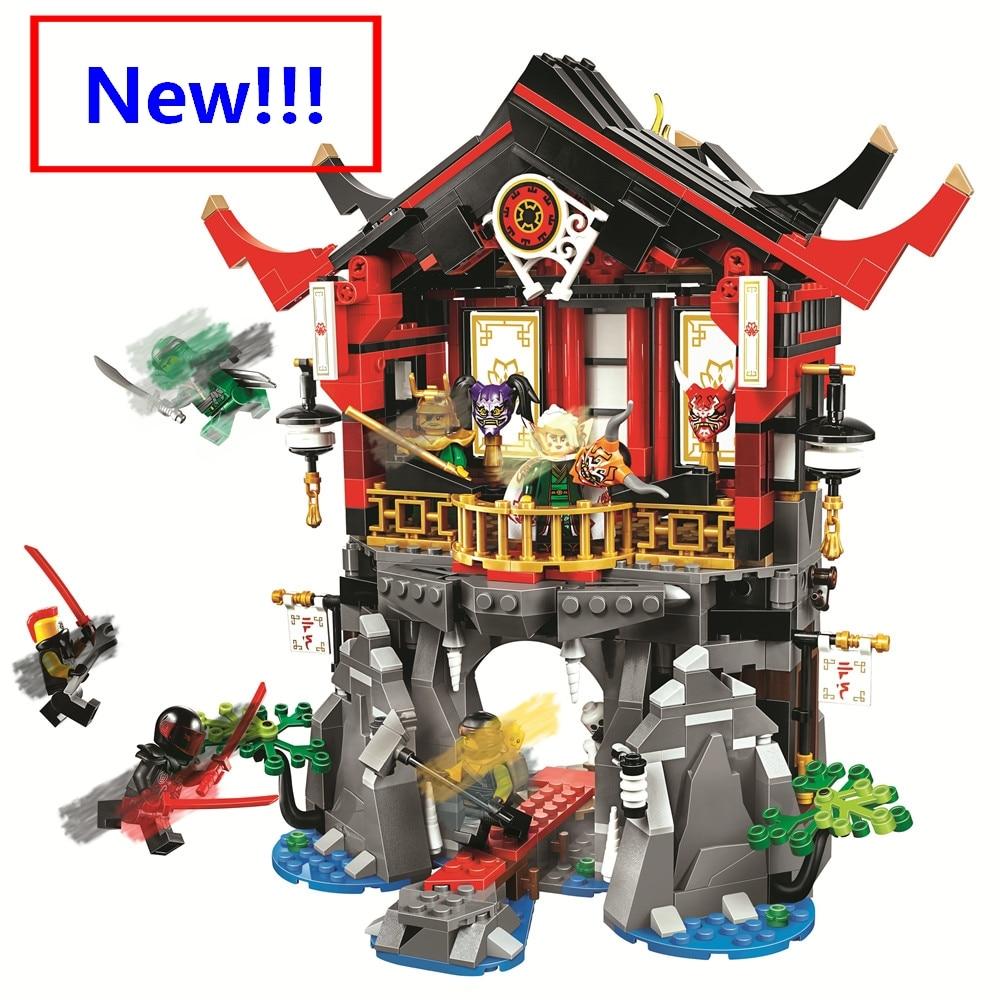 Novo filme ninja o templo da ressurreição compatível com 70643 06078 blocos de construção tijolos lepining lepinblocks brinquedos presente