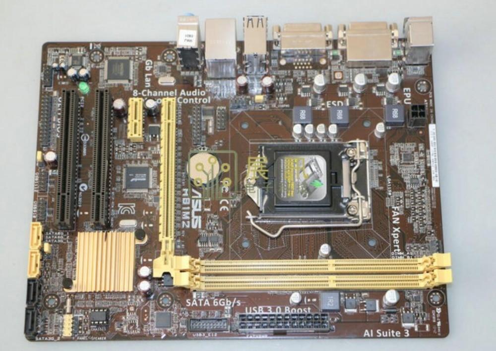 Placa-mãe de mesa asus h81m2 h81 lga 1150 4th geração i3 i5 i7 16g ddr3 usb3.0 micro atx mainboard