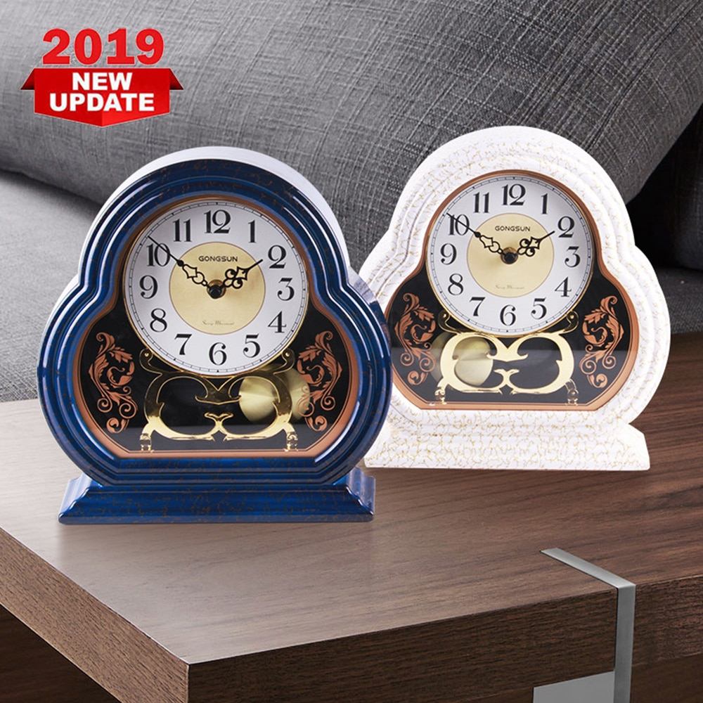 Europeu Retro Relógio Pequeno e Elegante Casa Quarto Sala de estar Mudo Relógio de Parede Relógio Balanço de Textura de Mármore