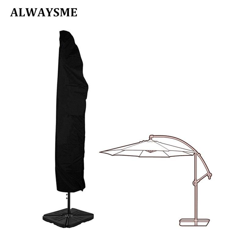 Alwaysme pátio ao ar livre 7-13 offset offset guarda-chuva capa à prova dwaterproof água para jardim ao ar livre banana cantilever guarda-sol com zíper