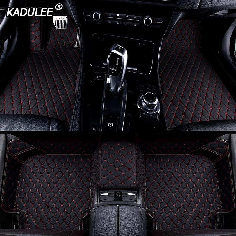 KADULEE Custom car floor mat For toyota land cruiser prado toyota camry corolla prius CH-R Sienna RAV4 CROWN auto accessories