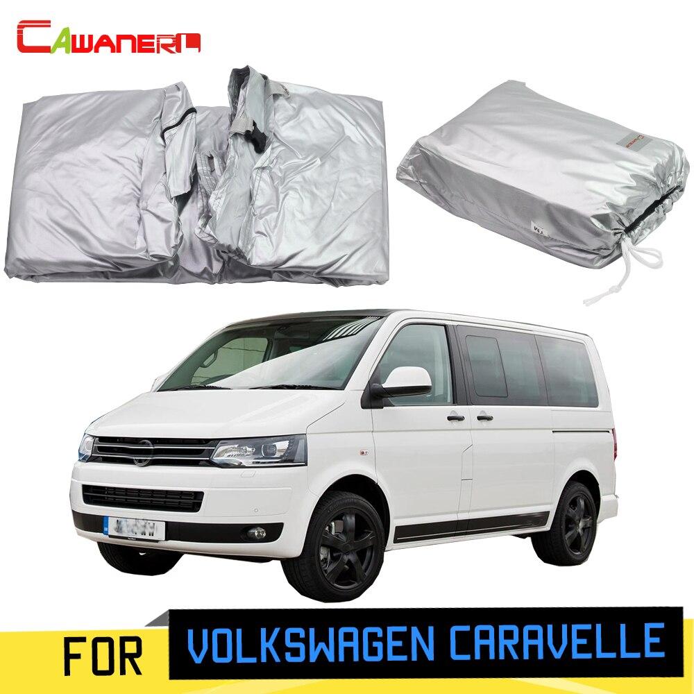 Cawanerl dla Volkswagen Caravelle pełny pokrowiec na samochód MPV odkryty słońce zarysowania deszcz śnieg pokrywa ochronna wiatroszczelna z blokada hasła