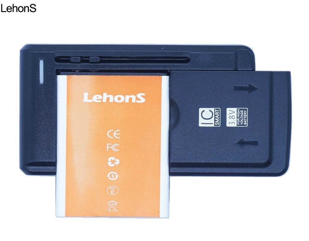 LehonS 1x2450 mAh de la batería del teléfono para Samsung Galaxy S2 I9100 9100 i9103 i9105 I9108 i9050 i9188 EB-F1A2GBU + cargador Universal