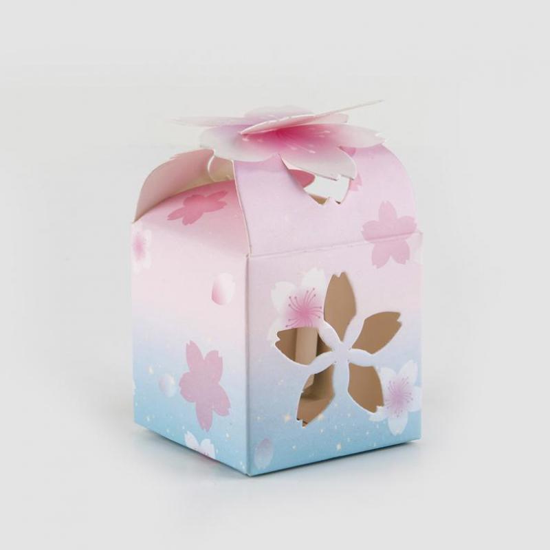 Caja de caramelos para obsequio en boda 50 Uds con flores caladas...