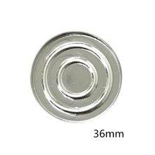 50 pcs 26mm/36mm ronde fer fard à paupières Pan, bricolage votre fard à paupières, coquille vide peut tenir sur notre Palette de fard à paupières magnétique étroitement