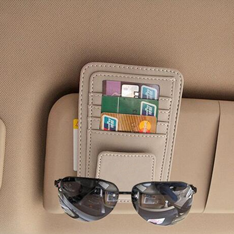 Coche soporte de gafas de sol Bolsa de tarjeta de crédito para ford focus 2 Corolla Toyota Avensis Yaris Rav4 Auris Hilux Prius Camry 40 Celica Supra