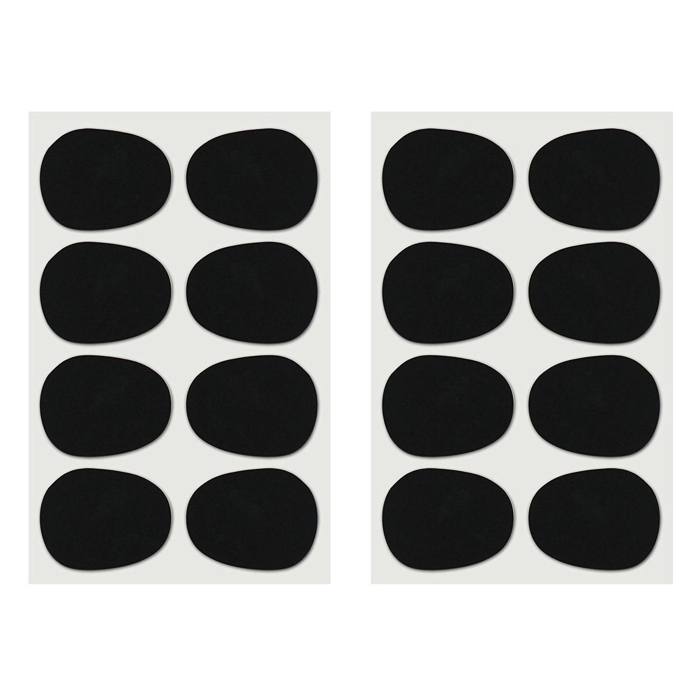 16 шт. Alto/tenor Sax кларнет накладки для мундштука колодки подушки, 0,8 мм черный, 16 упаковка-музыка