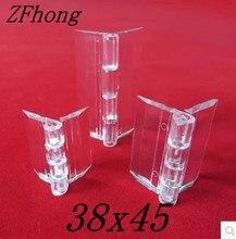 Charnière en acrylique 45x38mm 20 pièces/lot   Charnière transparente en plexiglas, charnière en verre organique, accessoire de meuble