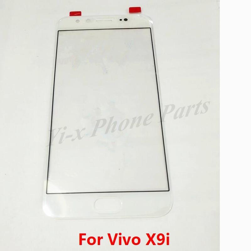 50 قطعة/الوحدة الأبيض الذهب الأسود ل فيفو X9i الجبهة الزجاج لوحة تعمل باللمس الهاتف المحمول استبدال أجزاء