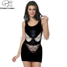 3D Print comics venom dress women clothing tank top straight sleeveless dress harajuku funny Sexy marvel Dress girl dress-1