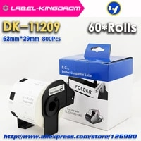 60 rolls compatible dk 11209 label 62mm29mm compatible for brother label printer all come with plastic holder 800pcsroll