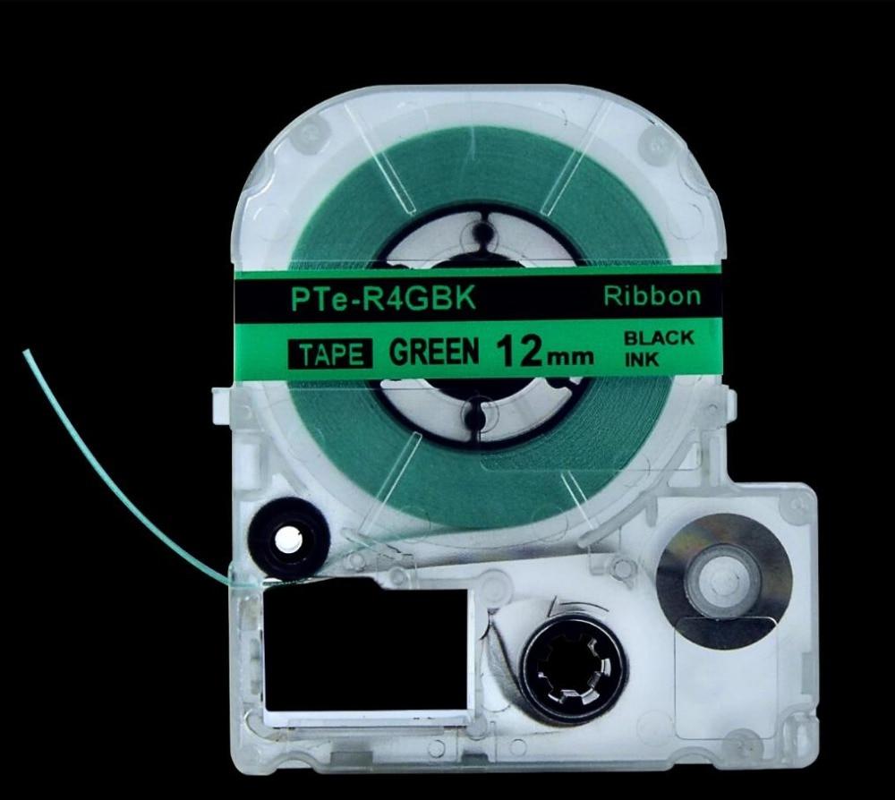 3 PK/الكثير PTe-R4GBK النسيج على الحديد الشريط للملابس 12 مللي متر * 5m متوافق ل LW-400/700 / 600P / 1000P