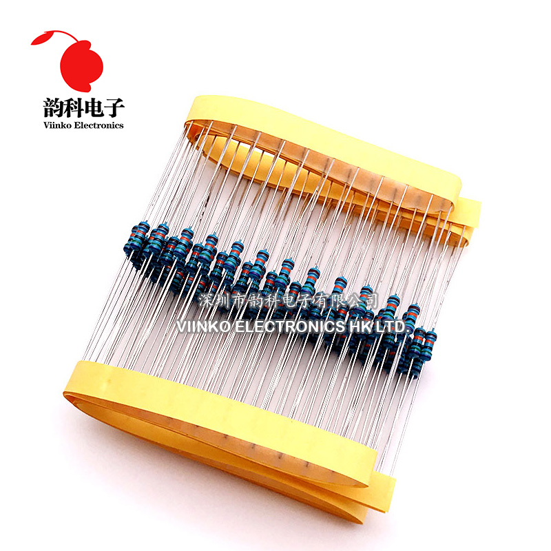 100pcs 1/4W 0R-22M 1% Metal Film Resistor 0.25W 0 2.2 10 100 120 150 220 270 330 470 1K 2.2K 4.7K 10K 100K 470K 1M 10M 20M ohms