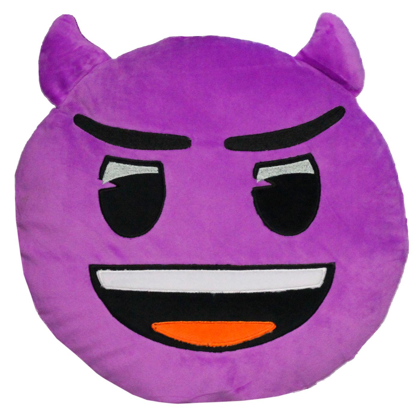 Emoticon cushion demon embroidery 33 cm Emoji®Official