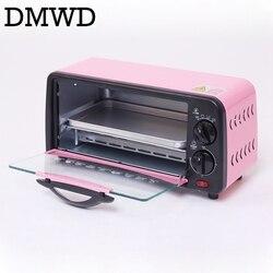DMWD Mini Elektrische Konvektion Ofen Multifunktions Brot Bäckerei Timer Toaster Grill Kekse Kuchen Pizza Cookies Backen Maschine 6L