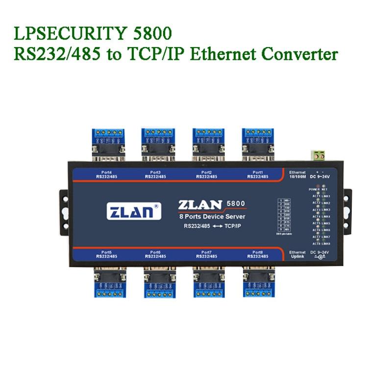 Servidor de 8 puertos en serie a dispositivos convertidores Ethernet/RS232/RS485 a TCP/IP extensión en cascada red configurar transmisión de datos IOT