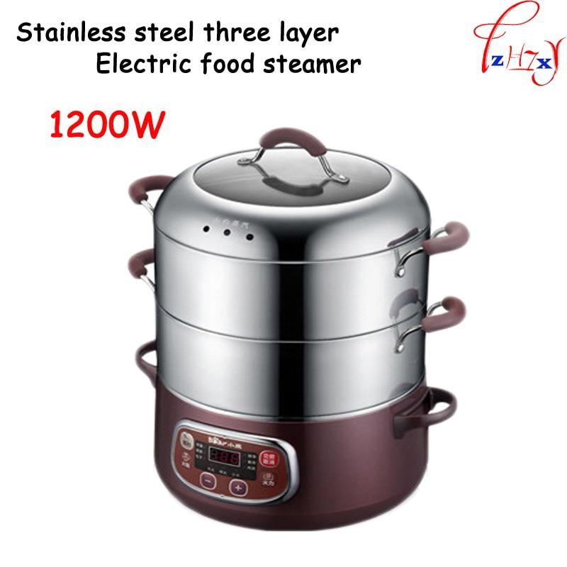 DZG-A80A1 الفولاذ المقاوم للصدأ 3-طبقات الكهربائية الساخنة وعاء/عموم/باخرة الجدول متعددة الأغراض الكهربائية وعاء الساخنة طبق الحك الكهربائية 220V