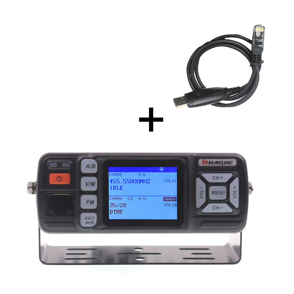 BJ-218 ترقية visionbaoji اسلكية تخاطب BJ-318 25 واط المزدوج الفرقة 136-174 و 400-490 ميجا هرتز سيارة راديو FM BJ318 VHF UHF راديو محمول صغير