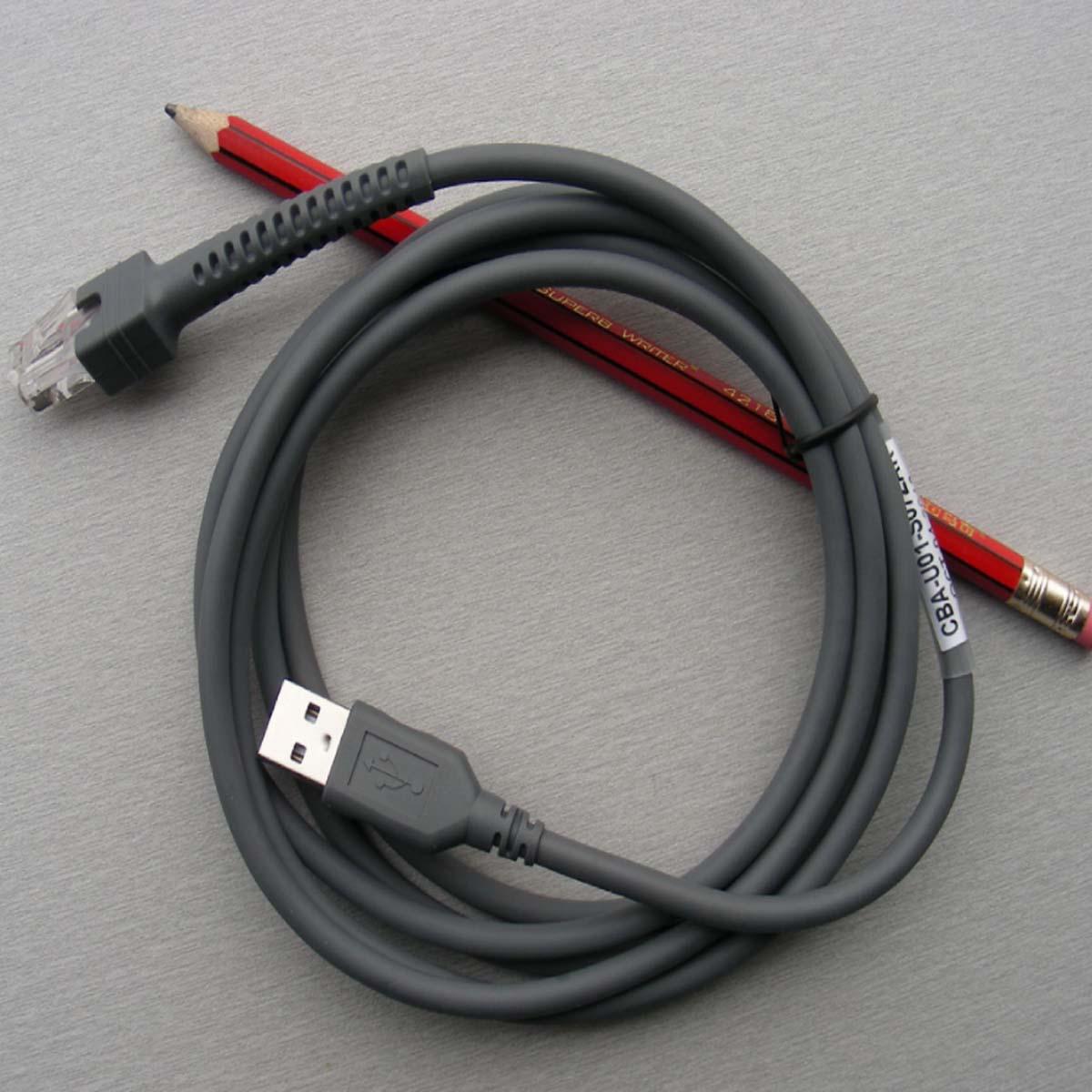 Nowy 2M kabel USB Symbol skaner kodów kreskowych LS1203 LS2208 LS4208 LS3008 CBA-U01-S07ZAR kabel danych