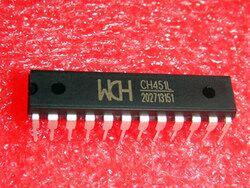 Free Shipping! 5pcs CH451L CH451 WCH Chip IC DIP-24