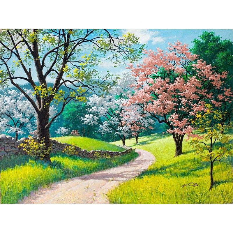 Flor primavera trod.40x50cm, pintura por números, diy, arte da parede, decoração da sala de estar, cenário, figura, animal, flor, desenhos animados
