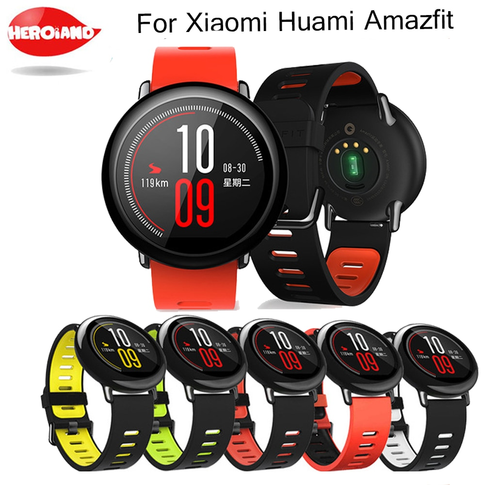 22mm Sports Silicone Wrist Strap bands for Xiaomi Huami Amazfit Bip BIT PACE Lite Youth Smart Watch Replacement Band Smartwatch genuine leather loop magnetic band strap for huami amazfit bip bit pace lite youth smart watch closure buckle wristband bracelet