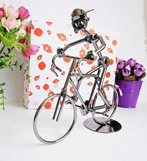 Q003 Iron Rider con bicicleta modelo de bicicleta artesanía hogar/MESA decoración regalo