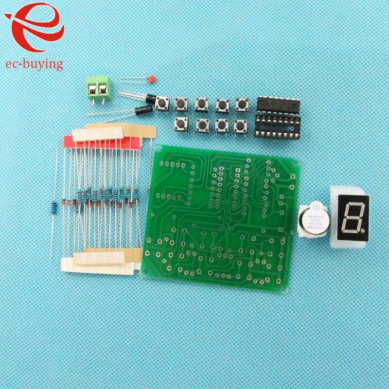 8 formas de piezas de Respuesta Digital componente electrónico CD4511 Placa de práctica de soldadura PCB Kit de práctica de soldadura experimento DIY