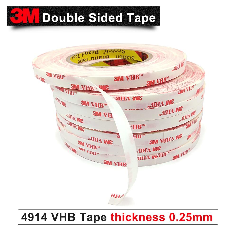 3m VHB 4914 شريط فوم لاصق عالي/يمكن استخدامه في الهواء الطلق وداخل المنزل/15 مللي متر * 33 متر/5 لفات/مجموعة