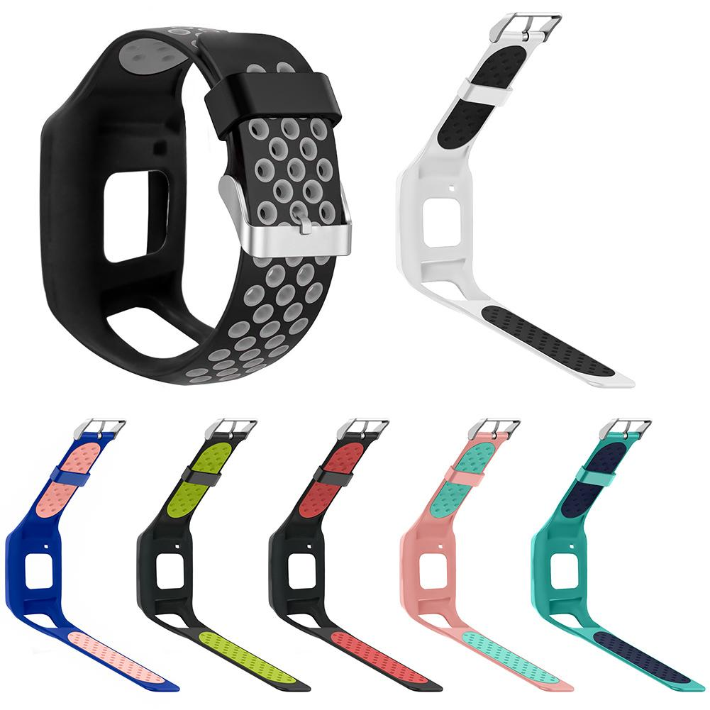 New Arrival Sports Soft Silicone Breathable Adjustable Watch Band Strap for TomTom 1 Series