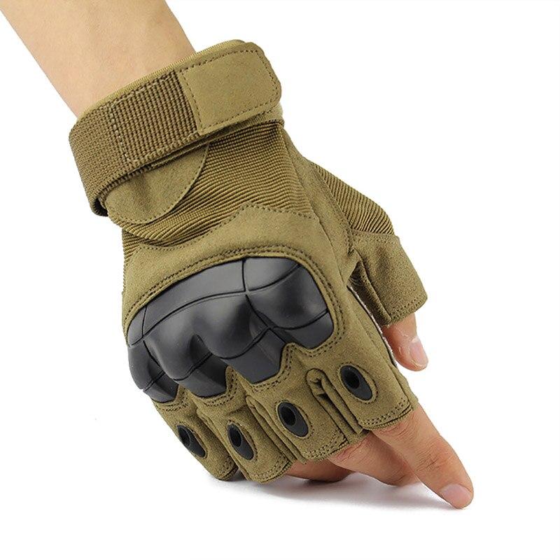 Al aire libre tácticas militares de medio dedo guantes de Paintball disparo Airsoft combate Anti-Skid nudillo caucho táctico guantes K5