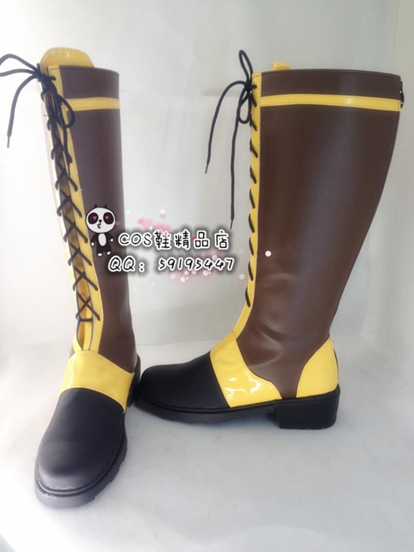 Preto Mordomo Ciel Phantomhive Marrom Longo Sapatos Cosplay Botas X002