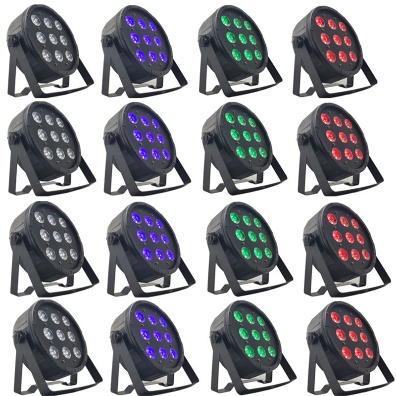 مصباح ديسكو احترافي LED ، ضوء غسيل DMX512 ، 9x12w RGBW ، 16 قطعة