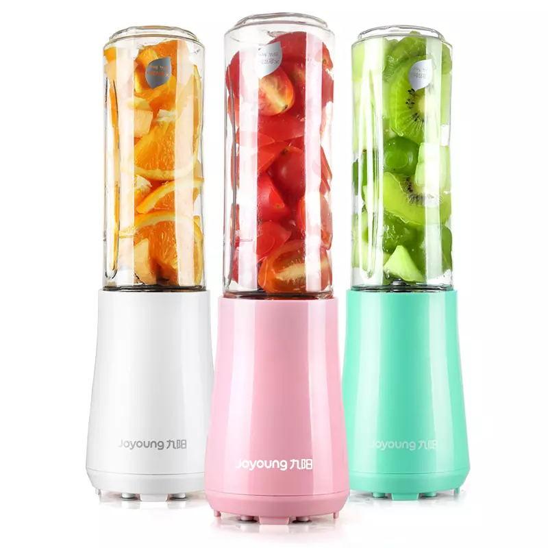 Jojojovem mini espremedor de cozinha, mini espremedor portátil com 2 garrafas, 3 cores, misturador de alimentos para bebês, confeitaria de cozinha