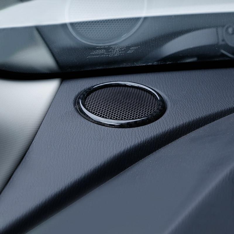 Couvercle de bague Audio   Pour Mazda 2 Demio DL berline DJ hayon 2015-17 ABS haut-parleur, garniture de bague Audio avant A pilier, cadre sonore, autocollant